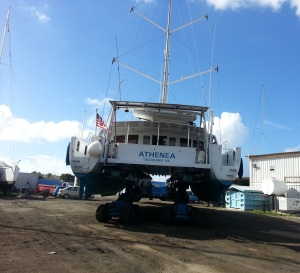st maarten shipyard haul out on wheels