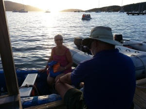 BVI virgin gorda dinghy ride