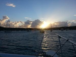 st martin kran anguilla sunrise