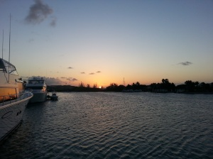 tc turtle bay marina sunset